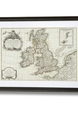 Hill Interiors Old Map of the British Isles - Framed Print