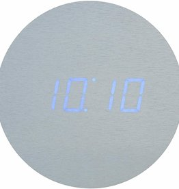 Gingko Aluminium Wall Click Clock / Blue LED - Sound Activated
