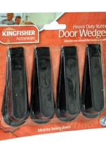 Kingfisher 4 Pack of Rubber Door Stop Wedges