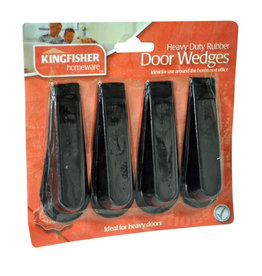 Kingfisher 4 Pack of Rubber Door Stop Wedges