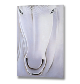 Hill Interiors White Horse Hand Painted Large Canvas