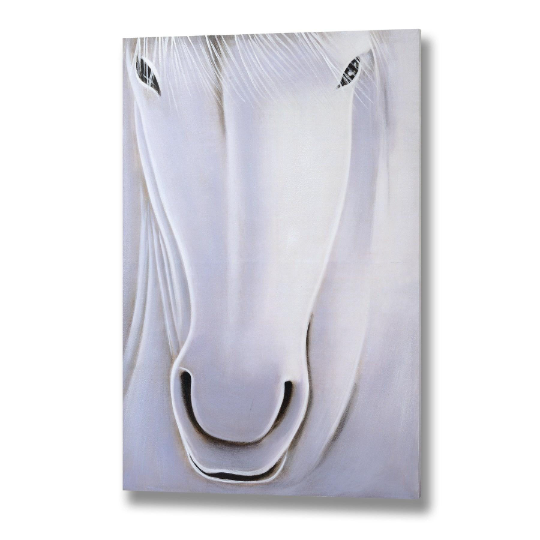 Hill Interiors White Horse Hand Painted Large Canvas-120CM
