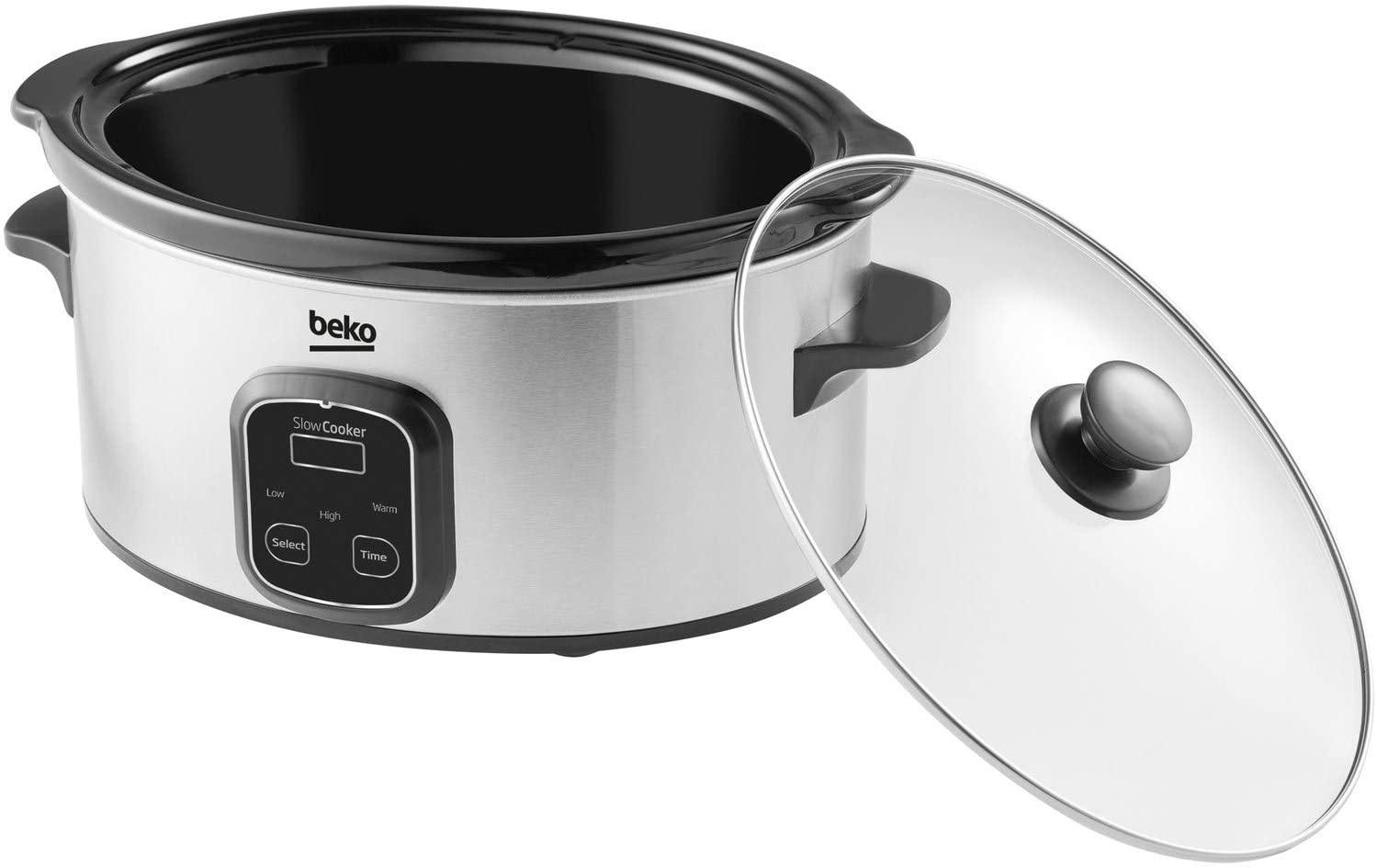 Beko SCM3622X 6 Litre Slow Cooker - LED Display