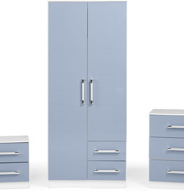 Seconique Jasper Bedroom Set -White & Blue