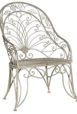 Grey-wash Metal High Back Chair