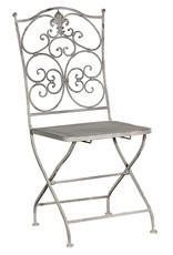 Grey-wash Metal Folding Chair