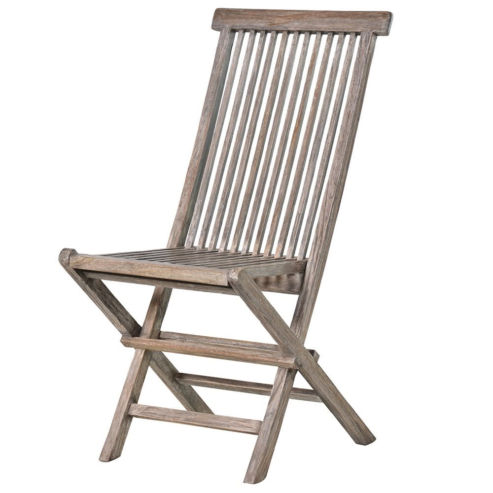 Grey Teak Folding Chair
