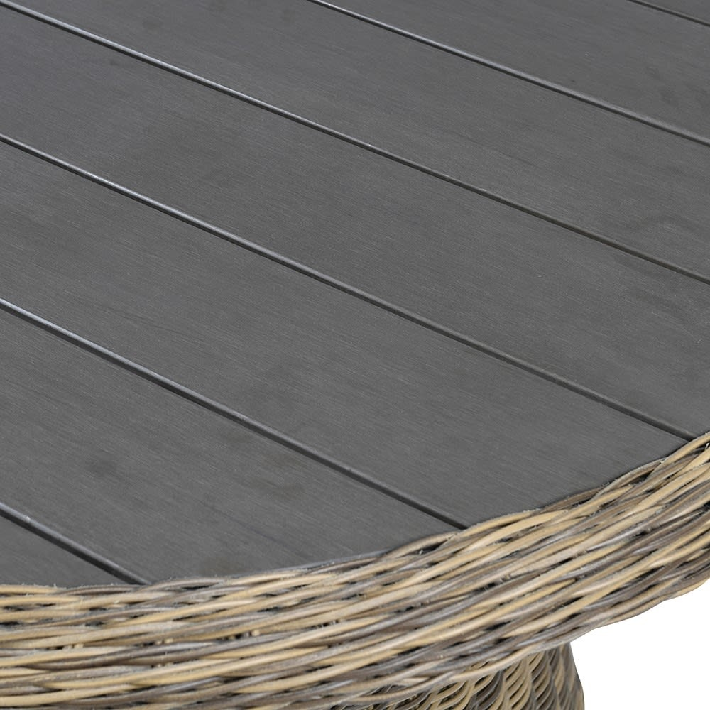 Outdoor Rattan Oval Table