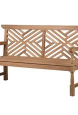 Cross Back Garden Bench