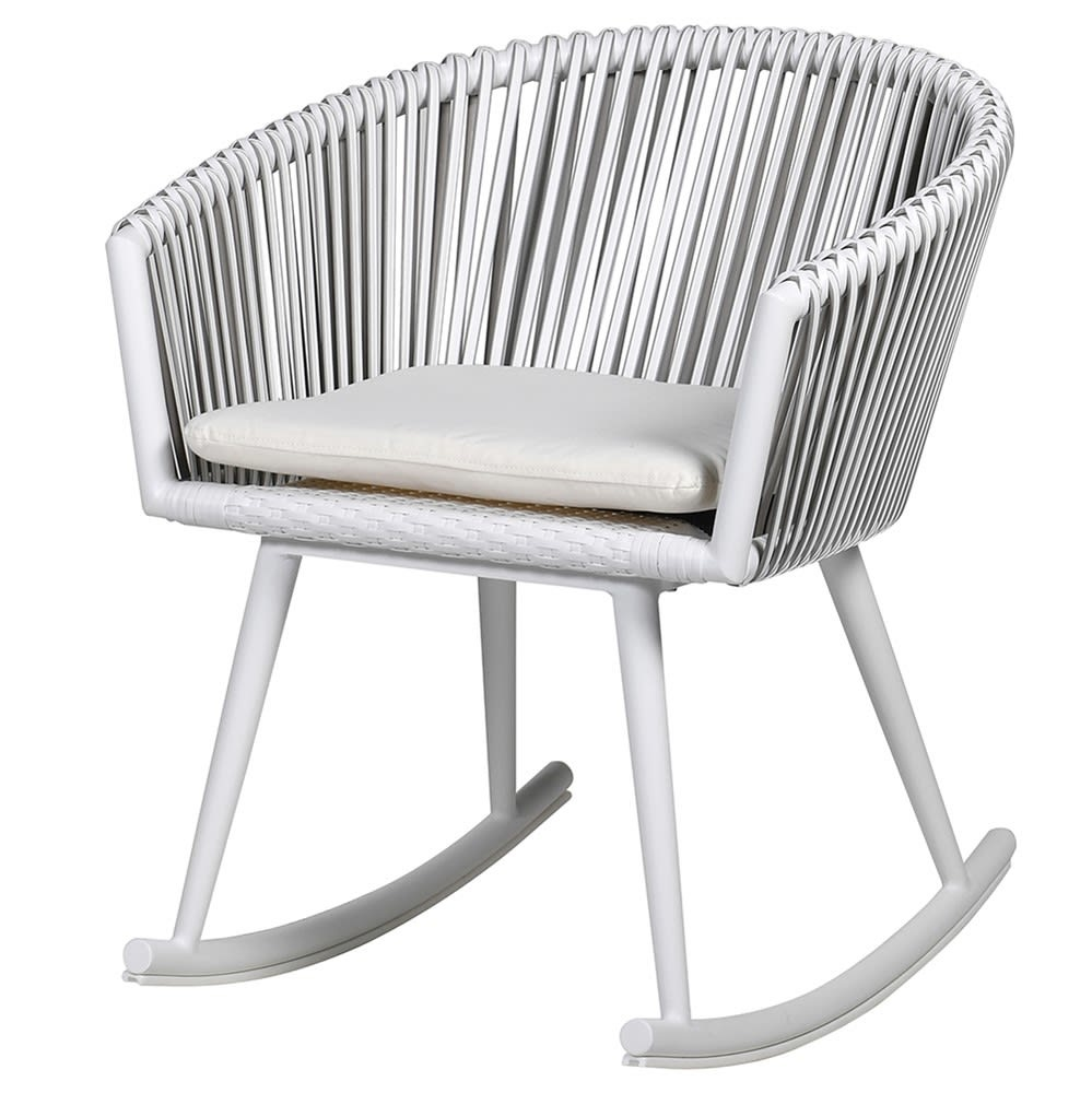 White Woven Rocking Chair