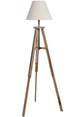 Hill Interiors Large Wooden Tripod Lamp
