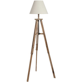 Hill Interiors Large Wooden Tripod Lamp