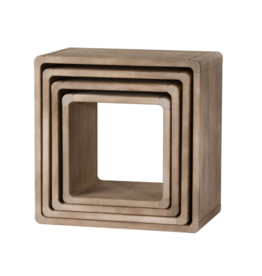 Hill Interiors Set Of 4 Wooden Hanging Display Cubes