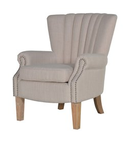 Cream Studded Armchair