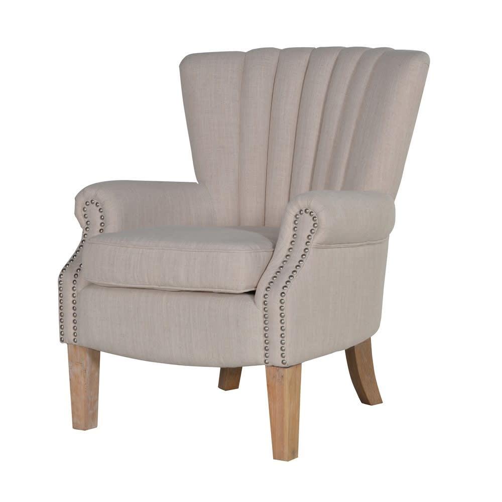 Cream Studded Armchair