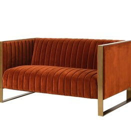 Naranja Orange Ribbed 2 Seater Sofa