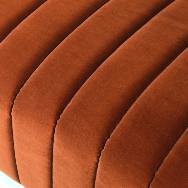 Naranja Orange Ribbed 3 Seater Sofa