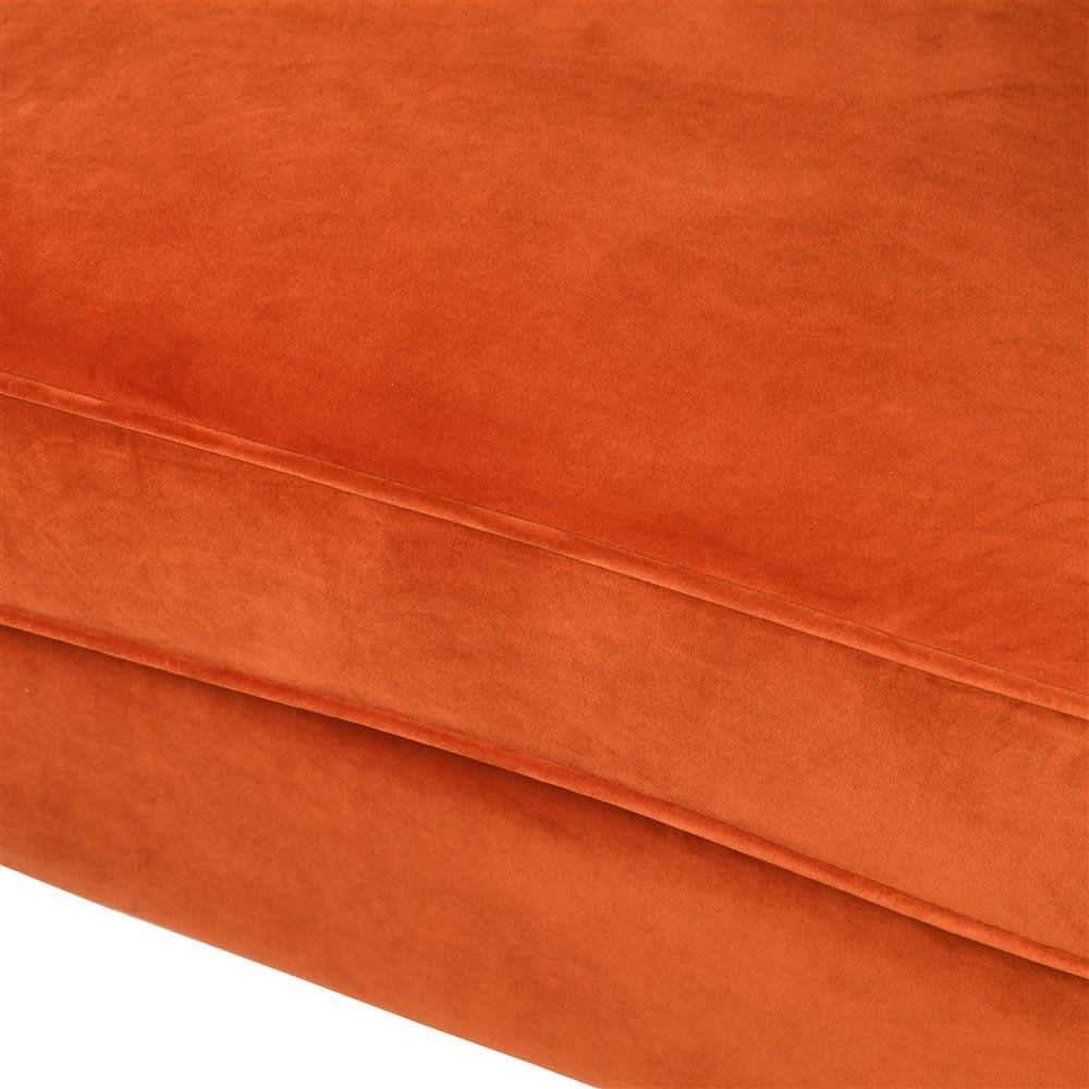 Orange Winged Occasional Chair