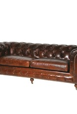Vintage Leather 3 Seater Chesterfield
