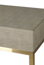 Sage Faux Shagreen Console Table