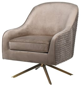 Gold Leg Swivel Chair