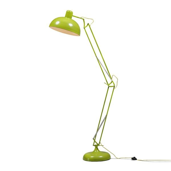 Lime Green Extra Large Classic Desk Style Floor Lamp (Yellow Fabric Flex)