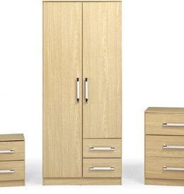 Seconique Jasper Bedroom Set - Oak Effect