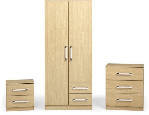 Seconique Jasper Bedroom Set - Oak Effect