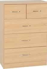 Seconique Nevada 3+2 Drawer Chest - Sonoma Oak