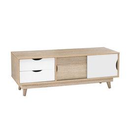 Modern Oak TV Unit - White