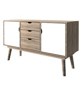 Modern Oak Sideboard - White