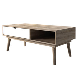 Modern Oak Coffee Table - White