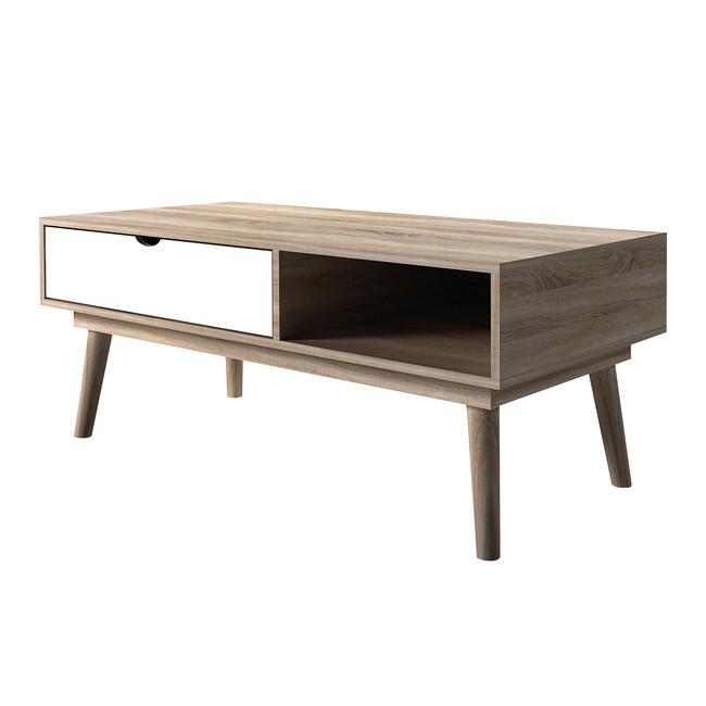 Modern Oak Coffee Table - White