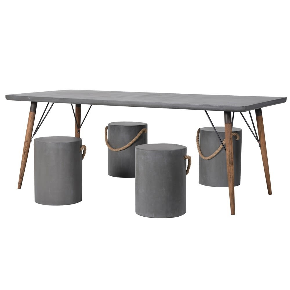 Concrete Effect Dining Set