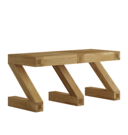Z  Designer Solid Oak Small Bench