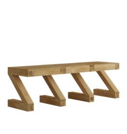 HomestyleGB Z  Designer Solid Oak Large Bench