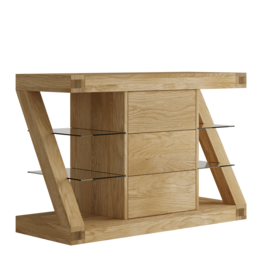 Z Designer Solid Oak Small Sideboard