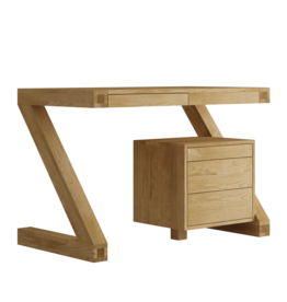 HomestyleGB Z Designer Solid Oak Small Desk