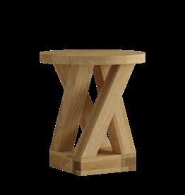 HomestyleGB Z Designer Solid Oak  Round Lamp Table