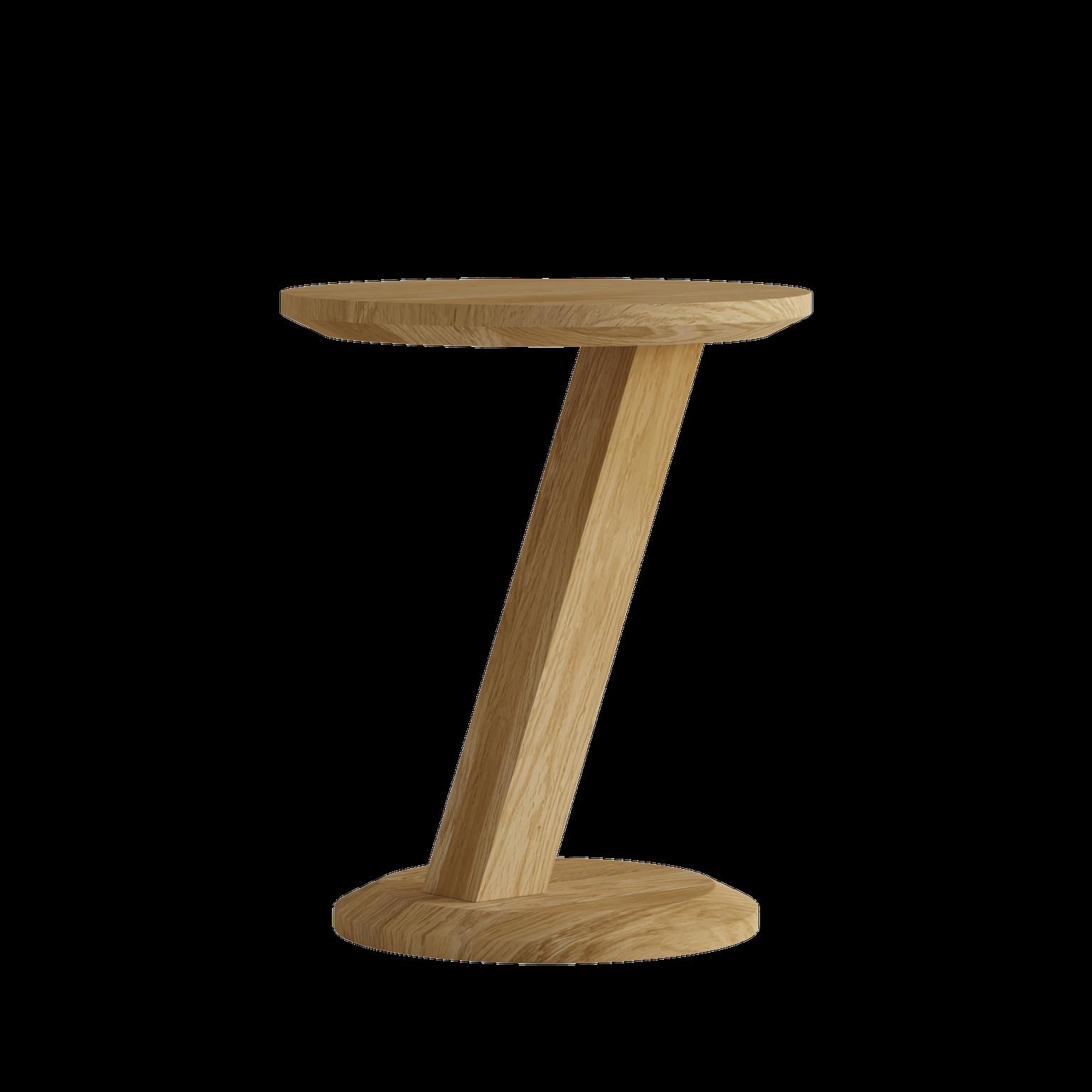 HomestyleGB Z Designer Solid Oak Modern Lamp Table