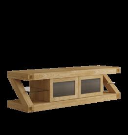 HomestyleGB Z Designer Solid Oak Glazed TV Plasma Unit