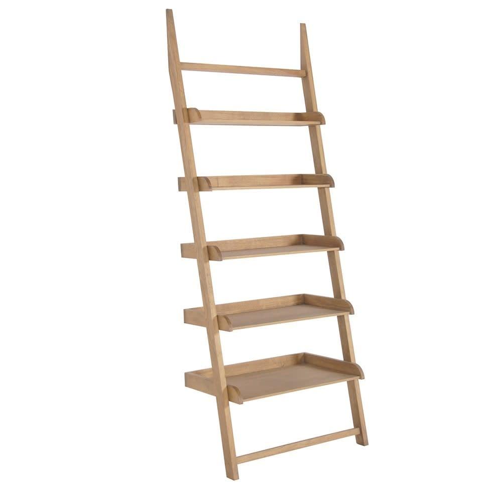 Weathered Oak Stepped Shelf Unit