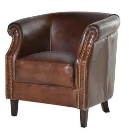 Vintage Mayfair Leather Armchair