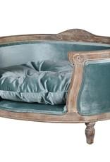 Luxury Blue Velvet Dog Bed