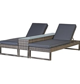 Rattan Lounger Set
