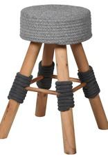 Grey Woven Top Stool