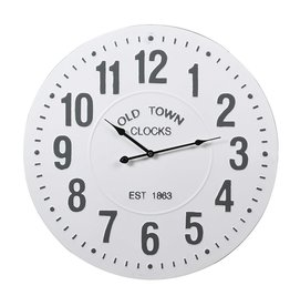 White Old Town Wall Clock