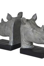 Rhino Head Bookends