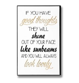 Hill Interiors Good Thoughts Plaque