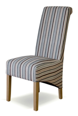 HomestyleGB Richmond Natural Striped Fabric Dining Chair